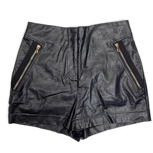 Forever 21 High Waist Faux Leather Shorts Medium